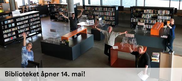 Hamar bibliotek åpner for publikum torsdag 14. mai